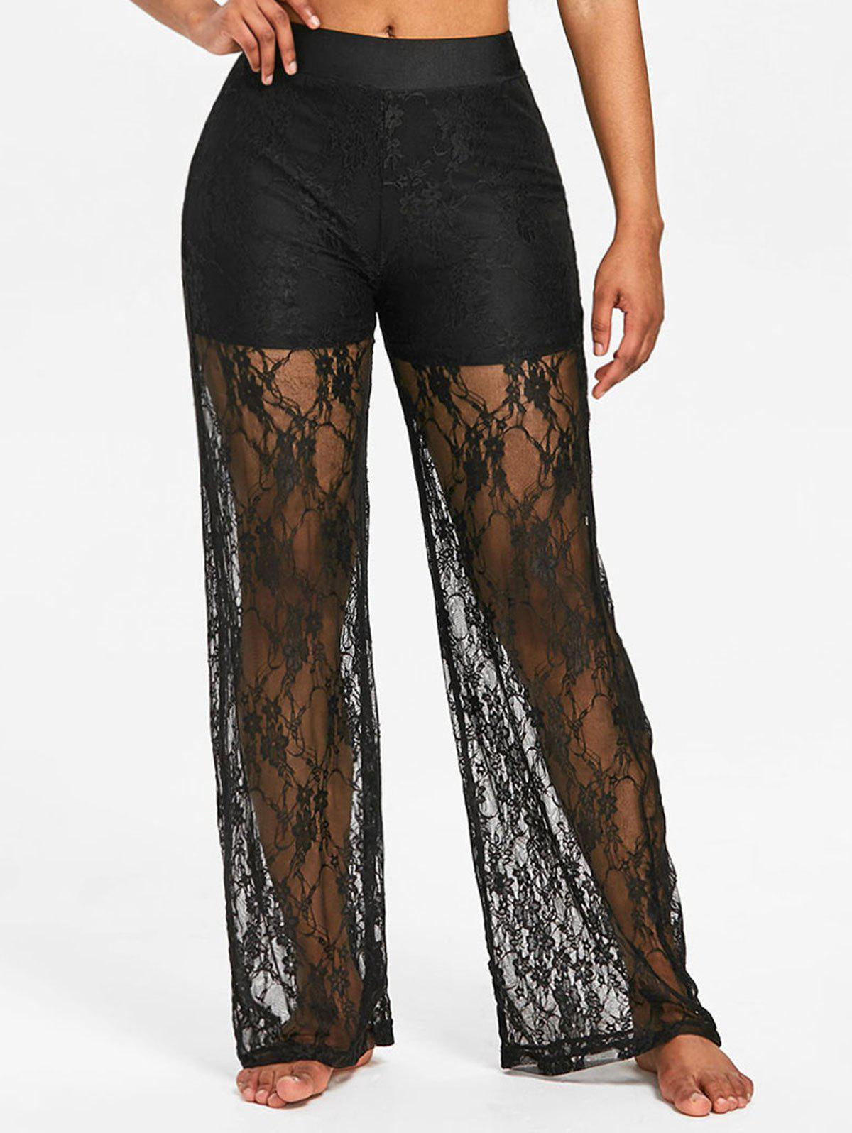 Outfit High Rise Lace Wide Leg Pants