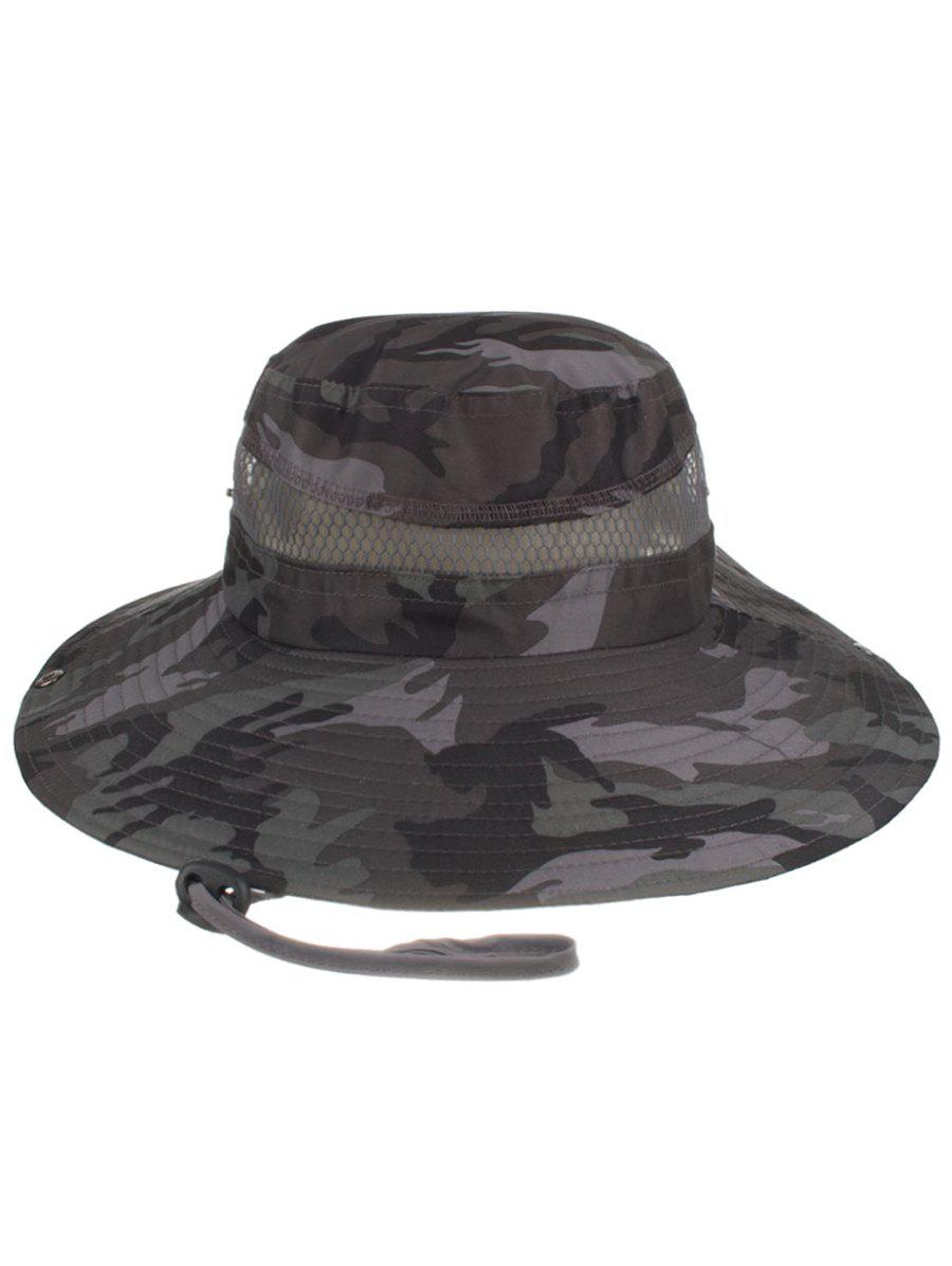 New Camouflage Pattern Mesh Breathable Fisherman Hat