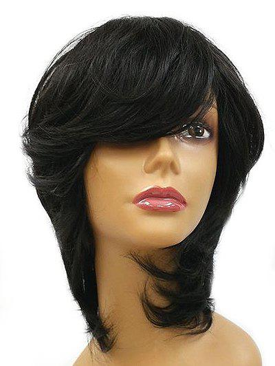 Outfit Medium Inclined Bang Natural Straight Synthetic Wig