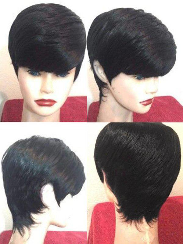 Chic Short Side Fringe Straight Synthetic Wig