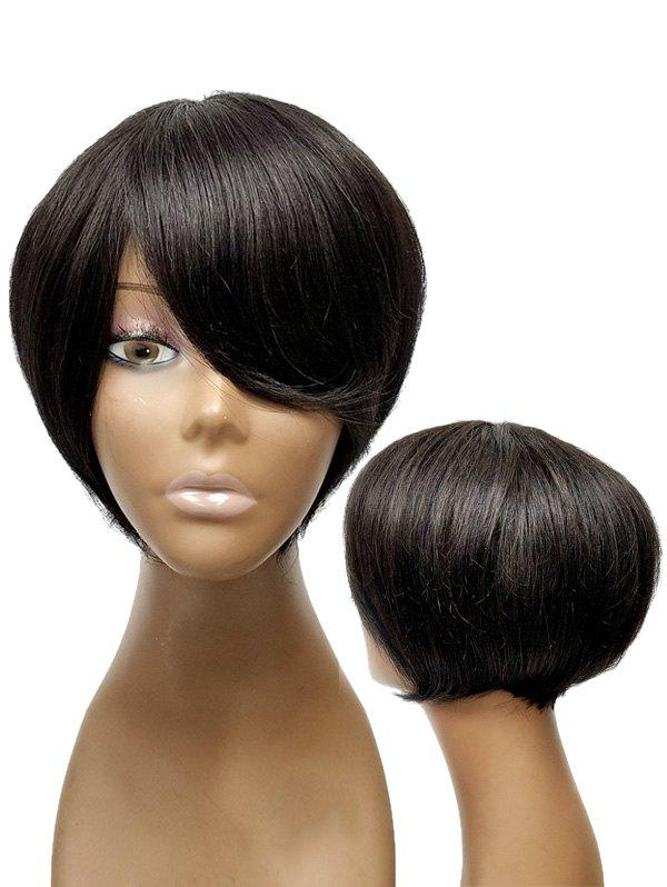 Discount Short Side Bang Straight Synthetic Wig