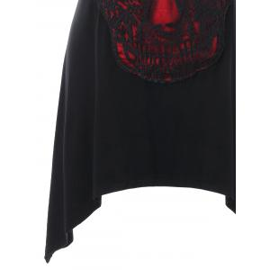 Lace Panel Skull Outline Tank Top -