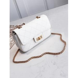 Chain Quilted Retro Crossbody Bag -
