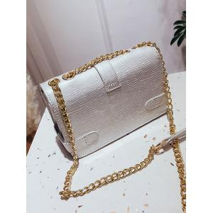 Flap Retro Chain Crossbody Bag -