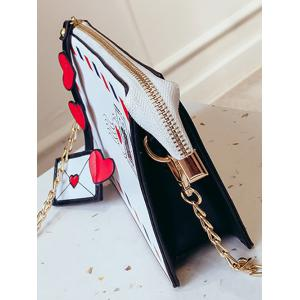 Postcard Chain Print Crossbody Bag -