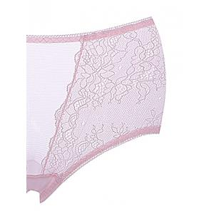 Breathable Lace Mid Rise Pantie -