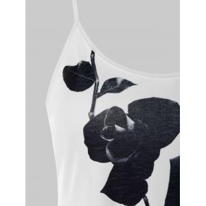 Two Tone Flower Print Tank Top -