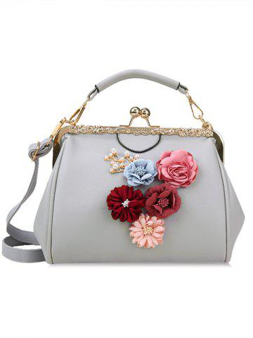 Fancy Faux Pearls Floral Crossbody Bag for Wedding
