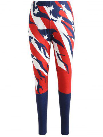 Chic American Flag Print Pants