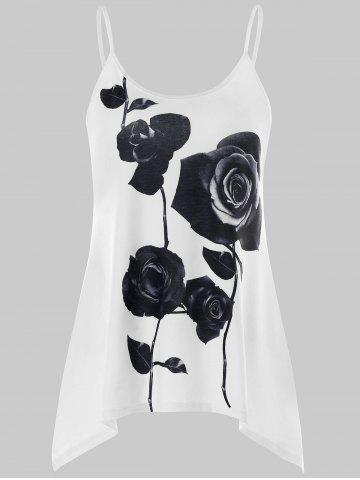 Shop Two Tone Flower Print Tank Top