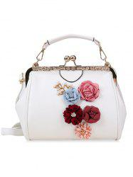 Faux Pearls Floral Crossbody Bag for Wedding -