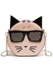 Color Block Cartoon Chain Crossbody Bag -