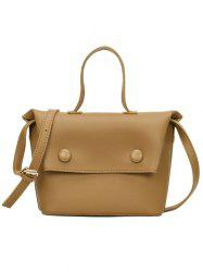 2 Piece Vintage Button Detail Commuter Shoulder Bag -
