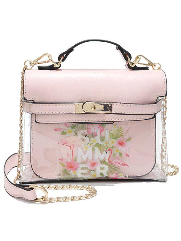 Unique Lucid Print Flower 2 Pieces Crossbody Bag Set