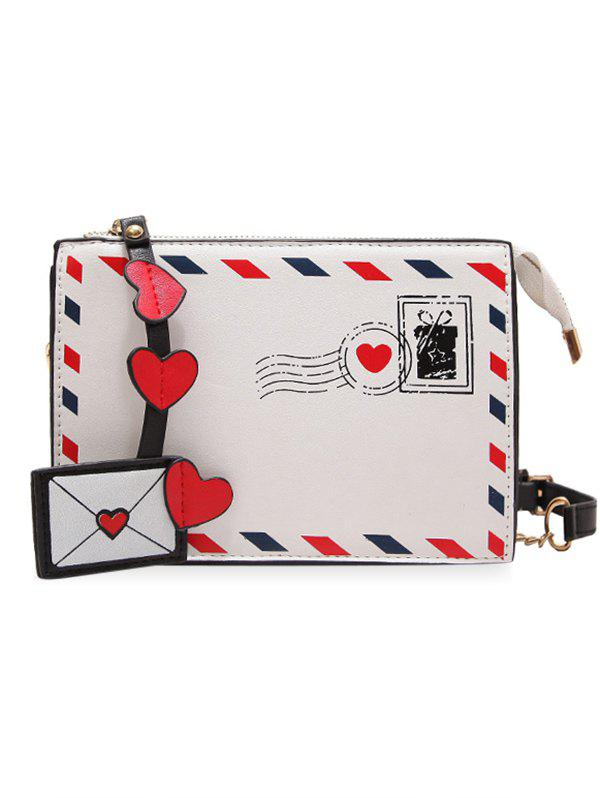 New Postcard Chain Print Crossbody Bag