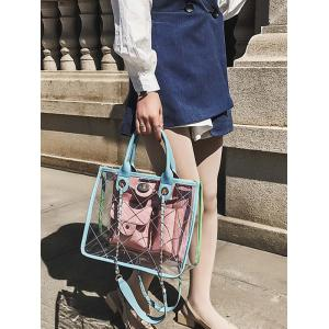 Jelly Candy Transparent Multi Pocket Chain Crossbody Bag -