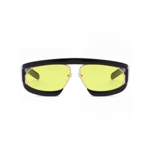 Stylish Double Frame Oval Sun Shades Sunglasses -