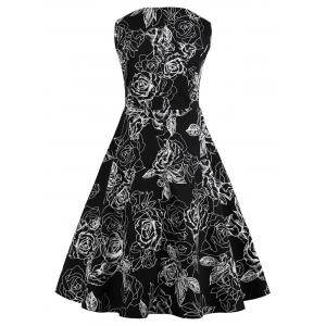 Plus Size Vintage Floral Dress -