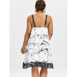Plus Size Sleeveless Marble Print Dress -
