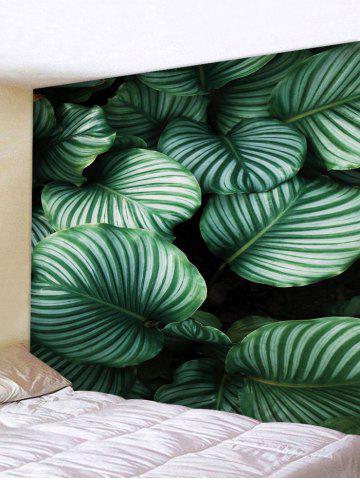 Sale Tropical Green Leaves Print Wall Tapestry
