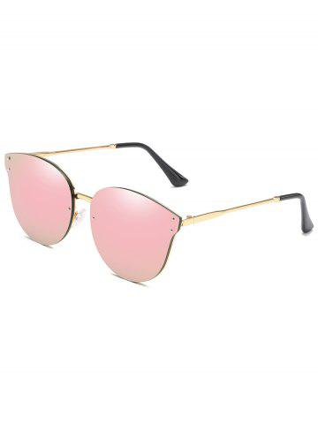 Affordable Metal Frame Flat Lens Sun Shades Sunglasses