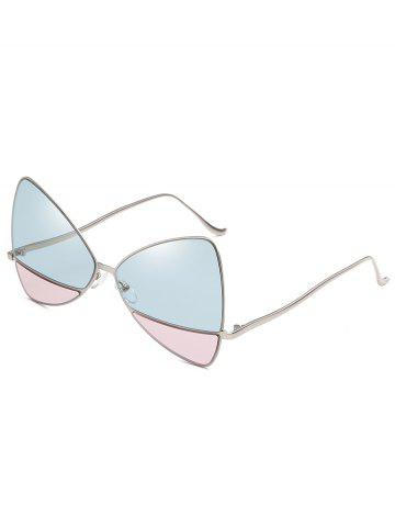 Online Anti Fatigue Metal Frame Two Tone Catty Sunglasses
