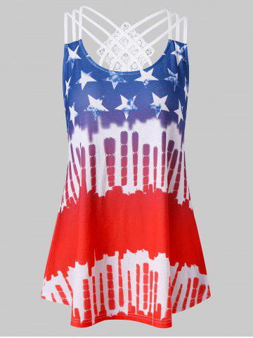 Fashion American Flag Hit Color Tank Top