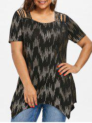 Sequined Plus Size Strappy Tee -