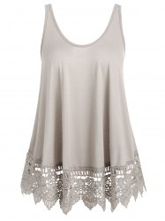 Lace Panel U Neck Tank Top -