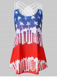 American Flag Hit Color Tank Top -