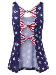 American Flag Bowknot Back Tank Top -
