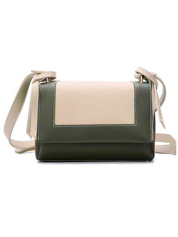 Store Color Block PU Leather Crossbody Bag