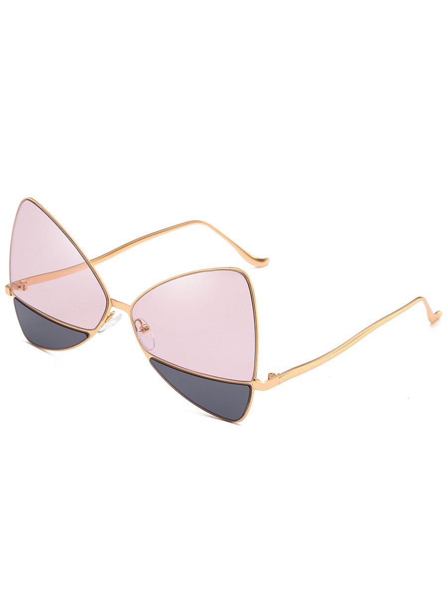 Affordable Anti Fatigue Metal Frame Two Tone Catty Sunglasses