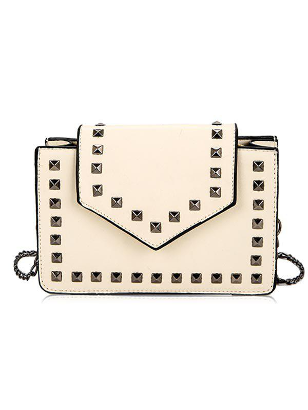 Shop Chic Studs PU Leather Crossbody Bag