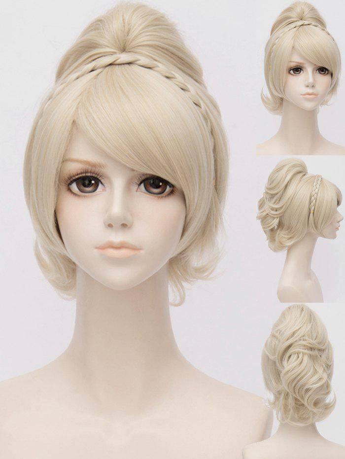 Outfit Long Inclined Bang Braided Ponytail Anime Cosplay Synthetic Wig