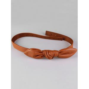 Bowknot Decorative Artificial Faux Leather Dress Belt -