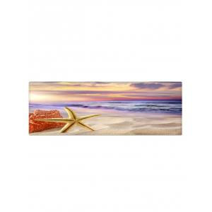 Sunrise Beach Starfish Print Indoor Outdoor Area Rug -