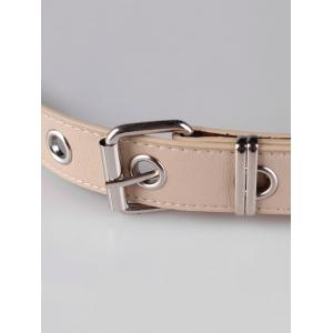 Unique Punk Faux Leather Metal Chains Waist Belt -