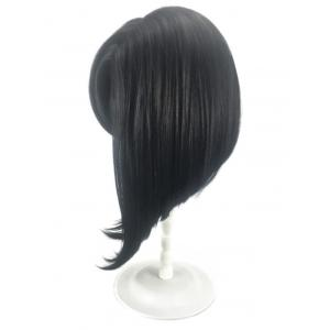 Medium Oblique Bang Straight Inverted Bob Synthetic Wig -
