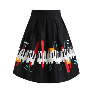 Piano Keys A Line Skirt -