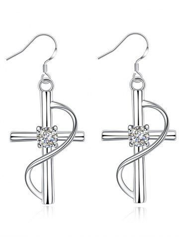 Sale Rhinestone Alloy Crucifix Drop Earrings