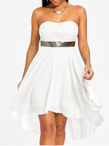 Store Chiffon Cocktail Bandeau Dress