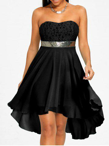 Chic Chiffon Cocktail Bandeau Dress