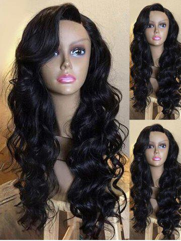 Cheap Long Side Parting Wavy Party Synthetic Wig