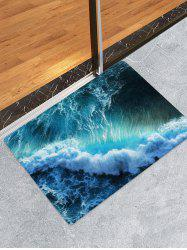 Sea Waves Print Flannel Floor Runner Rugs Mat -