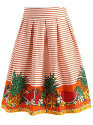 Watermelon Pineapple Swing Skirt -