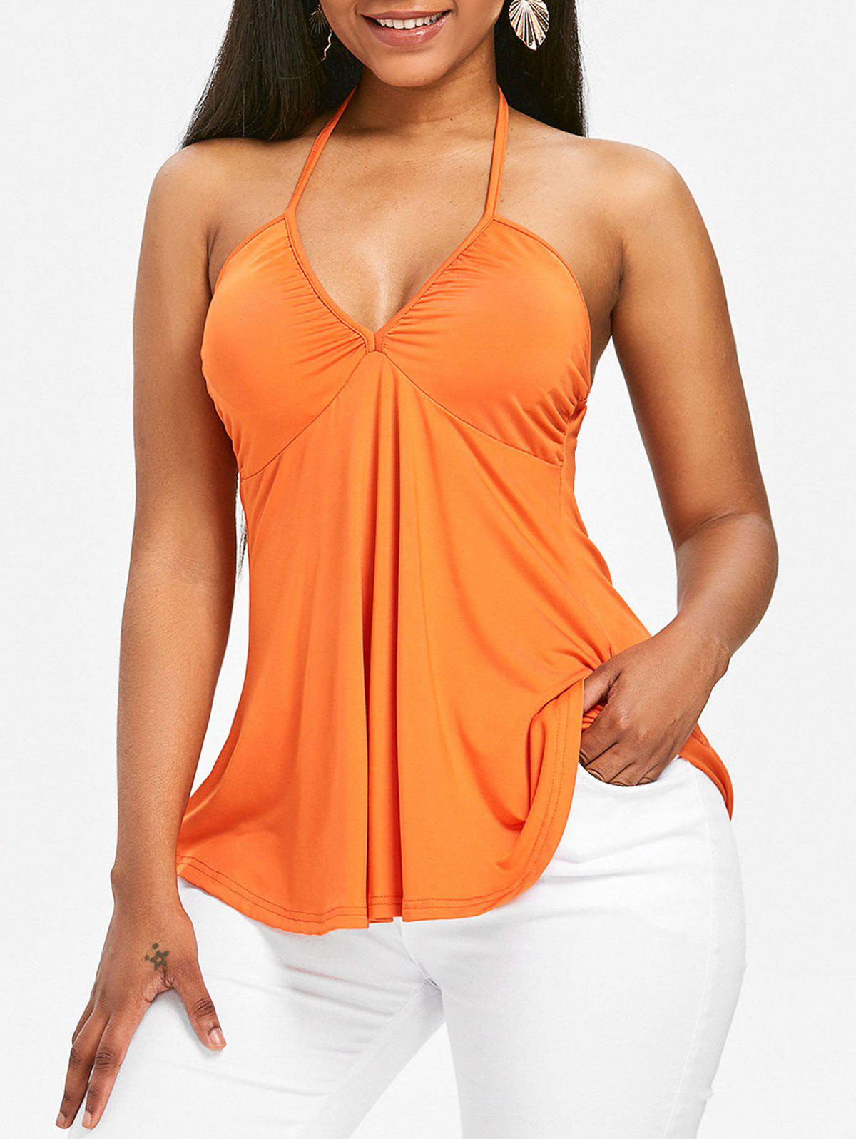 Store Halter Neck Backless Cami Top
