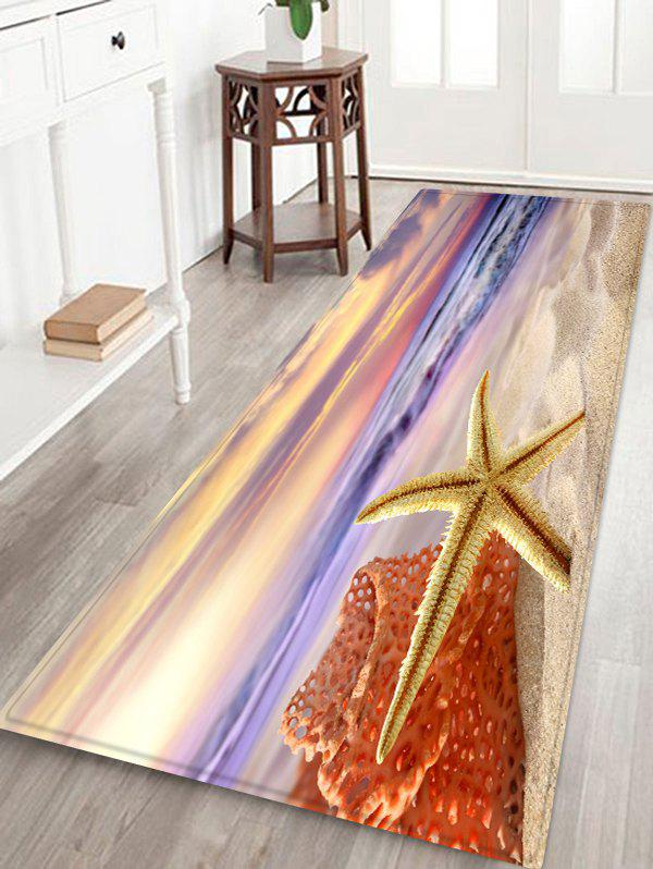 Outfit Sunrise Beach Starfish Print Indoor Outdoor Area Rug