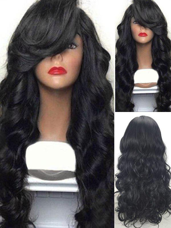 Outfit Long Side Bang Body Wave Synthetic Wig