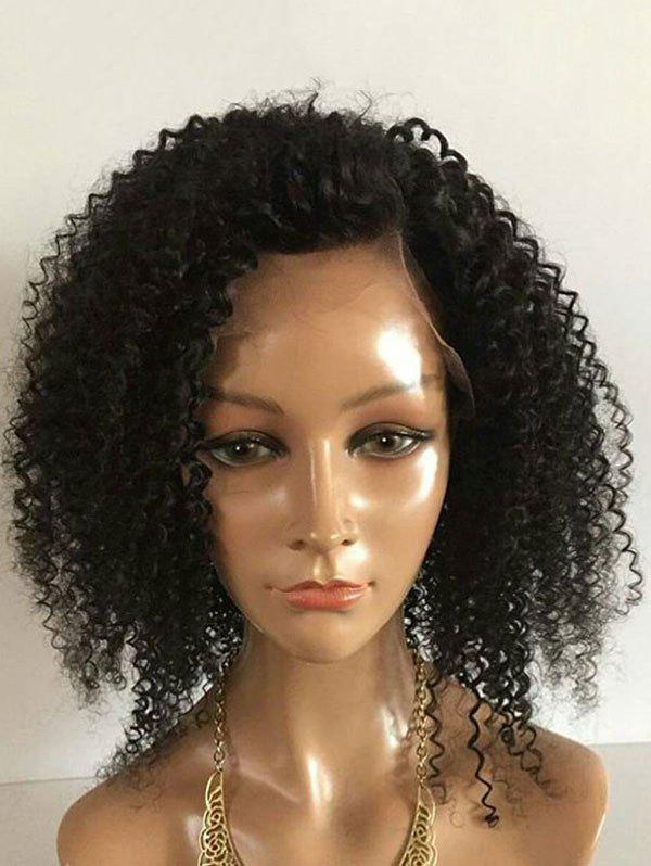 New Medium Side Bang Fluffy Kinky Curly Synthetic Lace Front Wig
